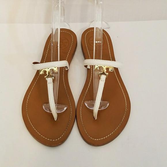b19301d55b9fd3 Tory Burch Shoes - Tory Burch T Logo Leather Thong Sandal